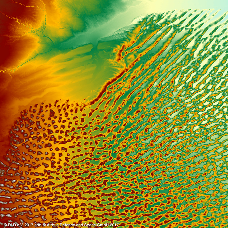 WorldDEM Digital Surface Model - Libyan Desert, Africa