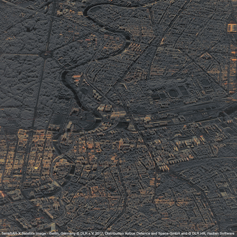 TerraSAR-X Satellite Image - Berlin, Germany