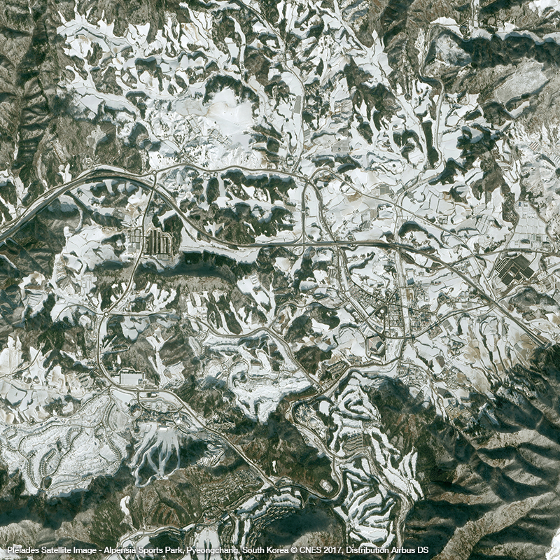 Pléiades Satellite Image – Alpensia Sports Park, South Korea