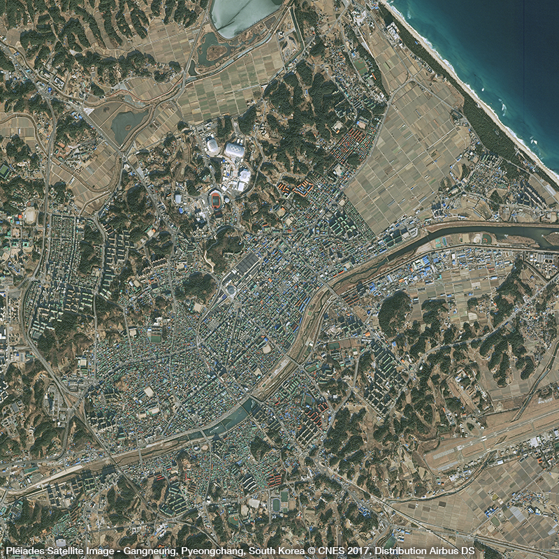 Pléiades Satellite Image – Gangneung, South Korea