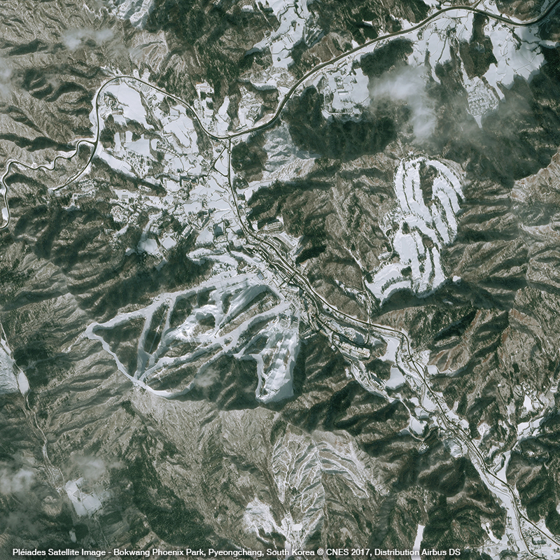 Pléiades Satellite Image – Bokwang Phoenix Park, South Korea