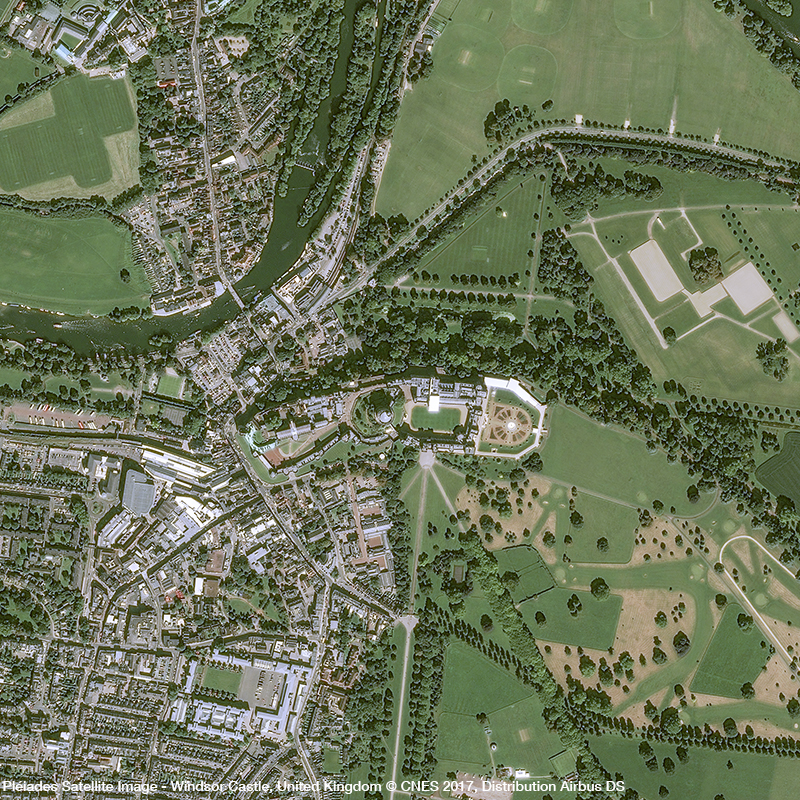 Pléiades Satellite Image - Windsor Castle