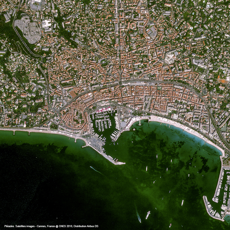 Pléiades Satellite image - Cannes, france