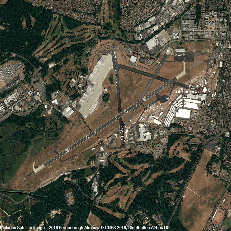 Pléiades Satellite Image – 2018 Farnborough Airshow