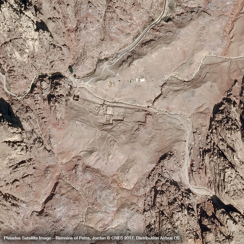 Pléiades Satellite Image – Remains of Petra