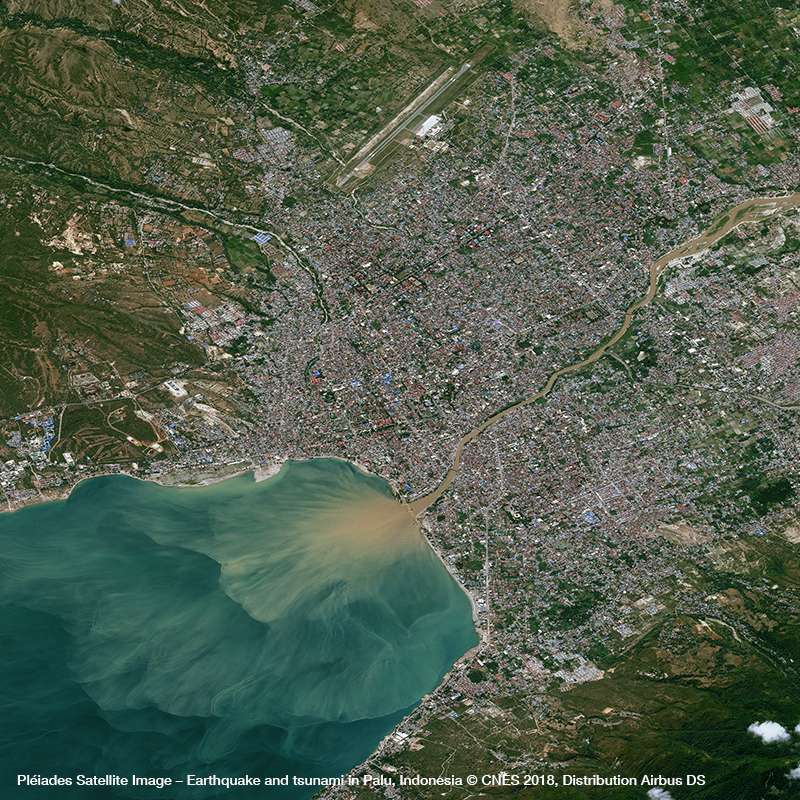 Pléiades Satellite Image – Earthquake and Tsunami in Palu, Indonesia