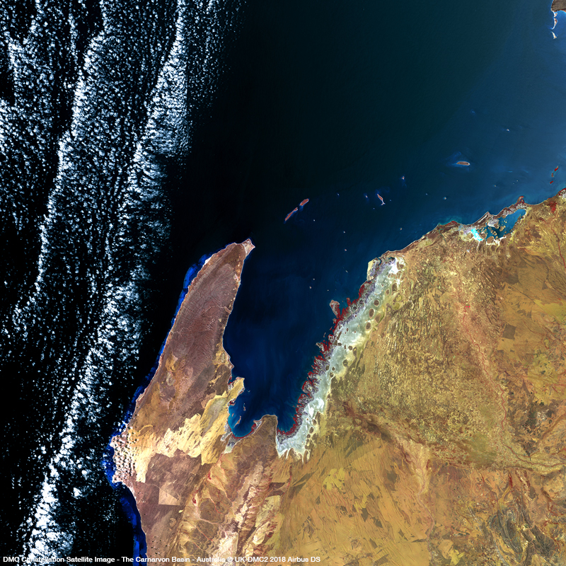 DMC Constellation Satellite Image - The Carnarvon Basin, a key petrolium source