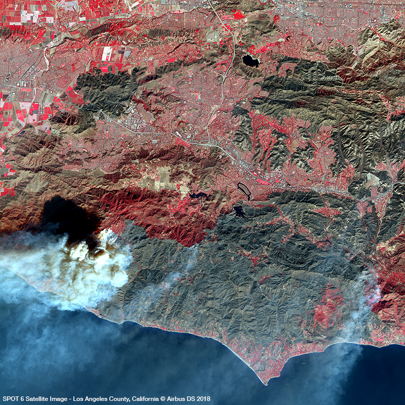 SPOT 6 Satellite Image - Los Angeles County, California