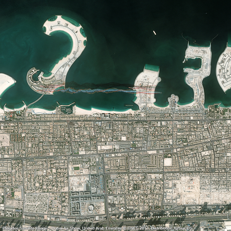 Pléiades Satellite Image – Dubai Air Show