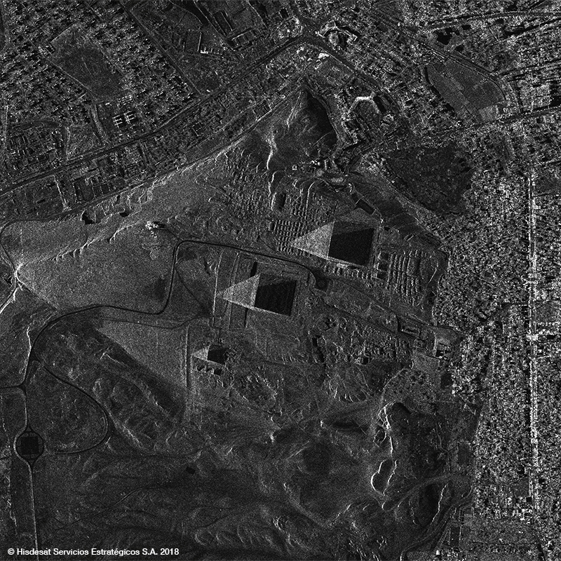PAZ Satellite Image - The Great Pyramids Complex, Egypt