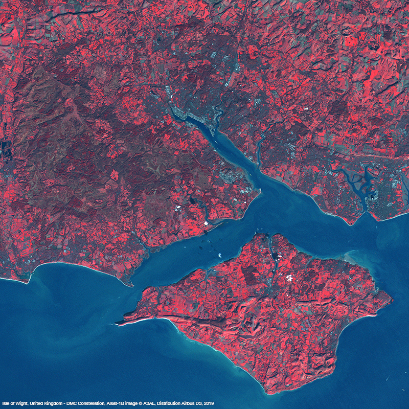 DMC Constellation Satellite Image NIR - Isle of Wight, UK