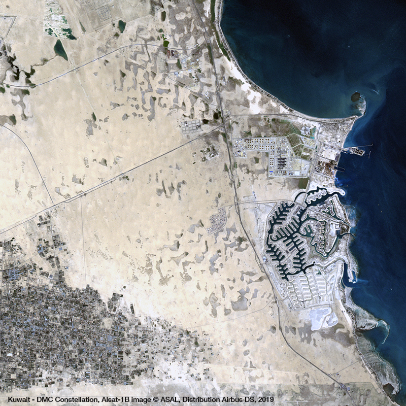 DMC Constellation Satellite Image RGB - Kuwait