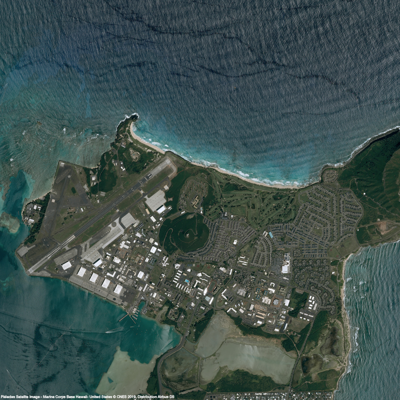 Pléiades Satellite Image - Marine Corps Base Hawaii, United States