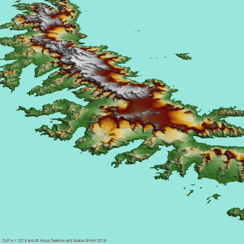 WorldDEM™ Image - South Georgia Island