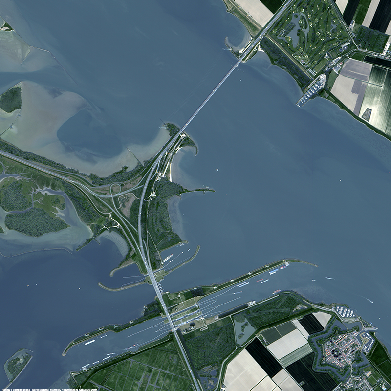 Vision-1 Satellite Image - Willemstad and the Hollands Diep