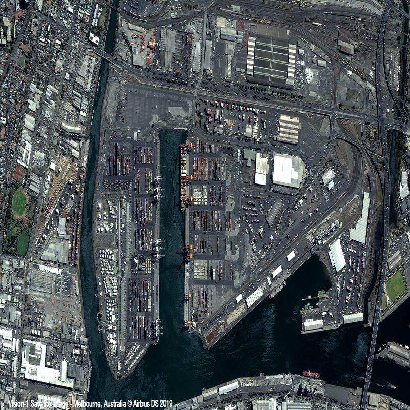 Vision-1 Satellite Image - Melbourne Port Zoom