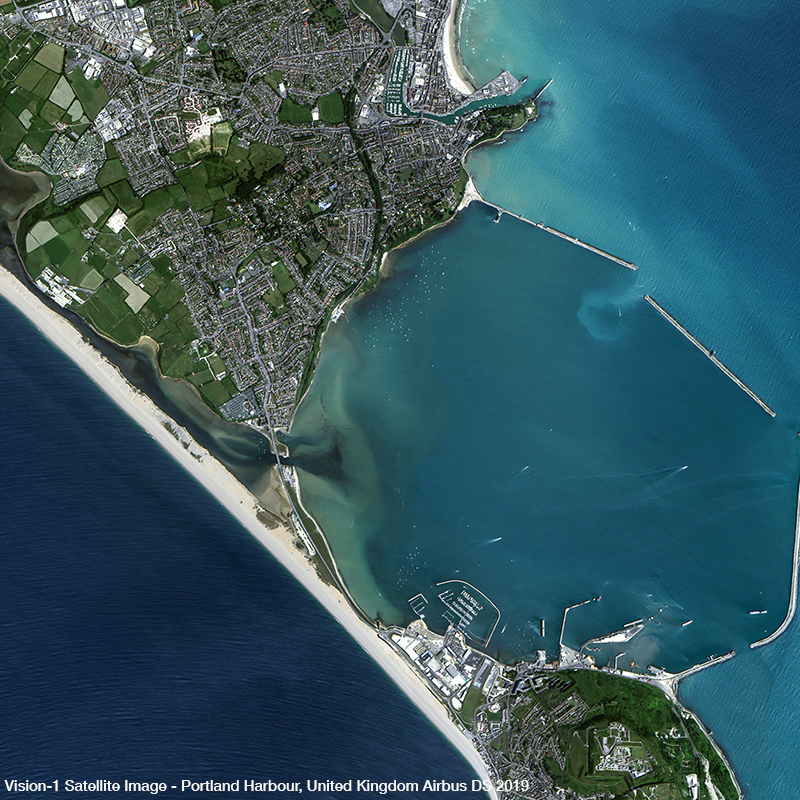 Vision-1 Satellite Image - Portland Harbour, United Kingdom