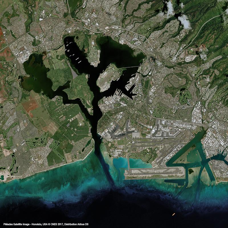 Pléiades Satellite Image - Honolulu, USA