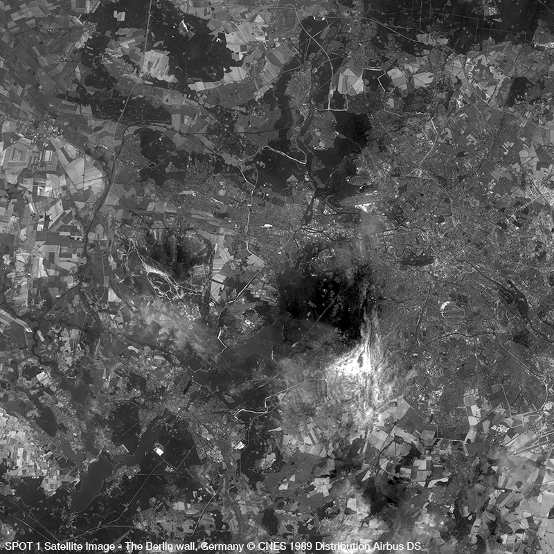 SPOT 1 Satellite Image - 30th anniversary of the fall of the Berlin wall