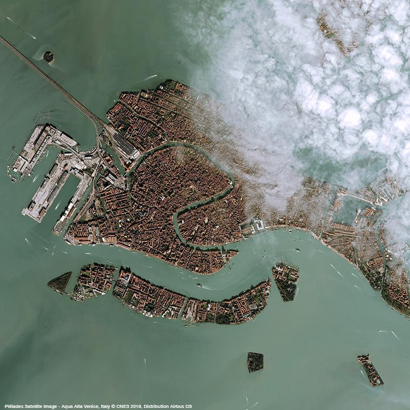 Pléiades Satellite Image - Aqua Alta, Venice