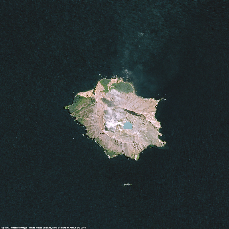 SPOT 6/7 Satellite Image - White island Volcano, New- Zealand