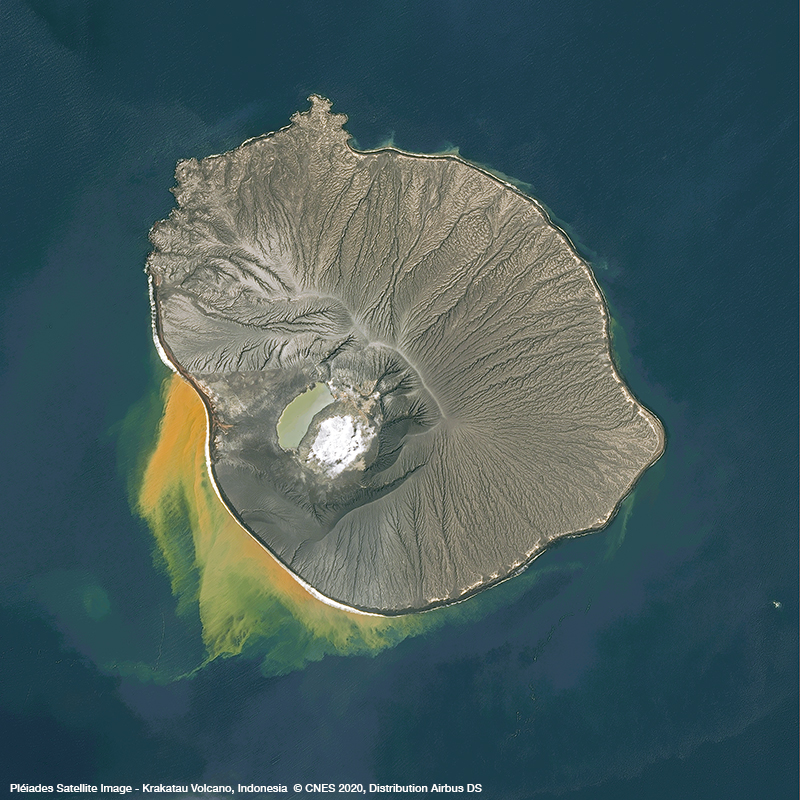 Pléiades Satellite Image - Krakatau Volcano, Indonesia