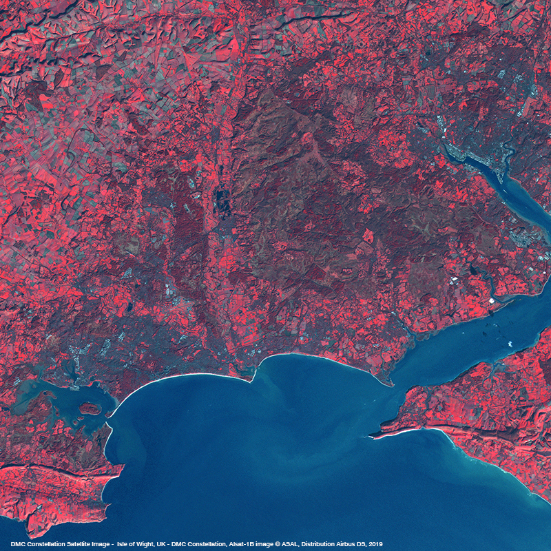 DMC Constellation Satellite Image - Isle of Wight, United Kingdom