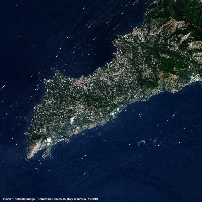 Vision-1 Satellite Image - Sorrentine Peninsula, Italy