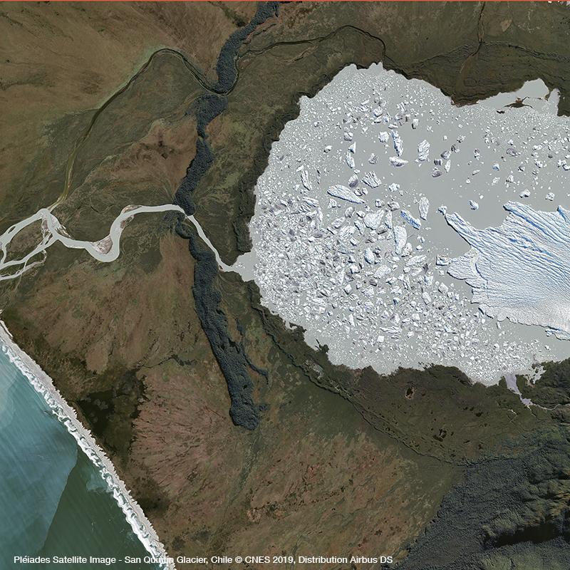 Pléiades Satellite Image - San Quitin Glacier