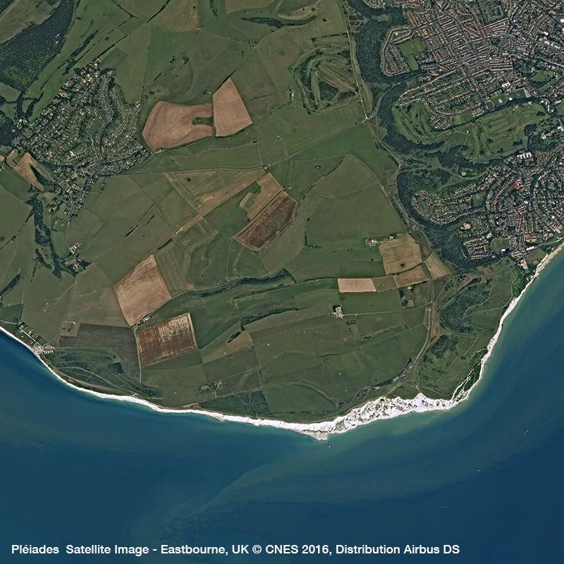 Pléiades Satellite Image - Seven Sister, Eastbourne