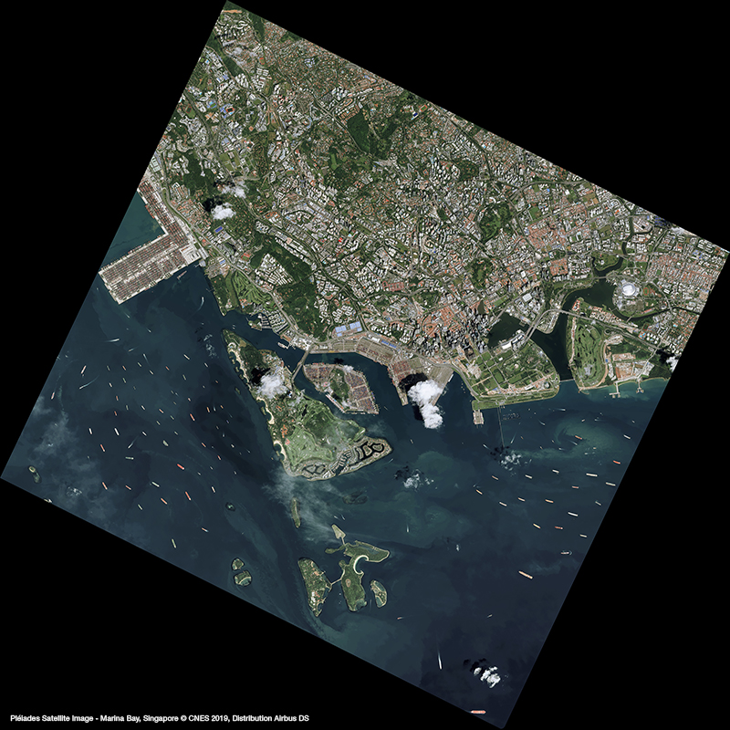 Pléiades Satellite Image - Marina Bay