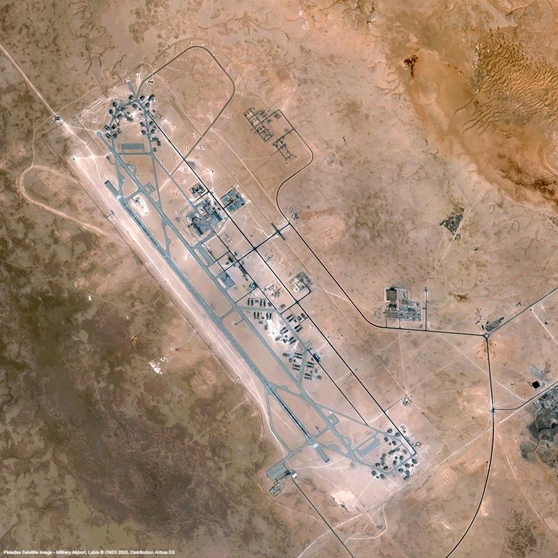 Pléiades - Military Airport Lybia