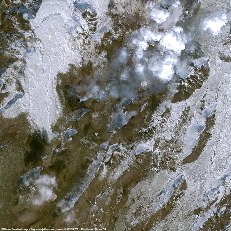 Pléiades - Fagradalsfjall volcano eruption