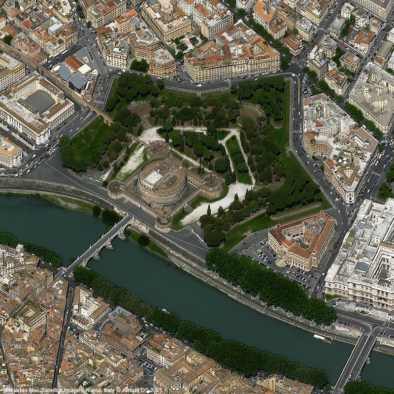 Pléiades Neo - Castle Sant'Angelo - Roma, Italy