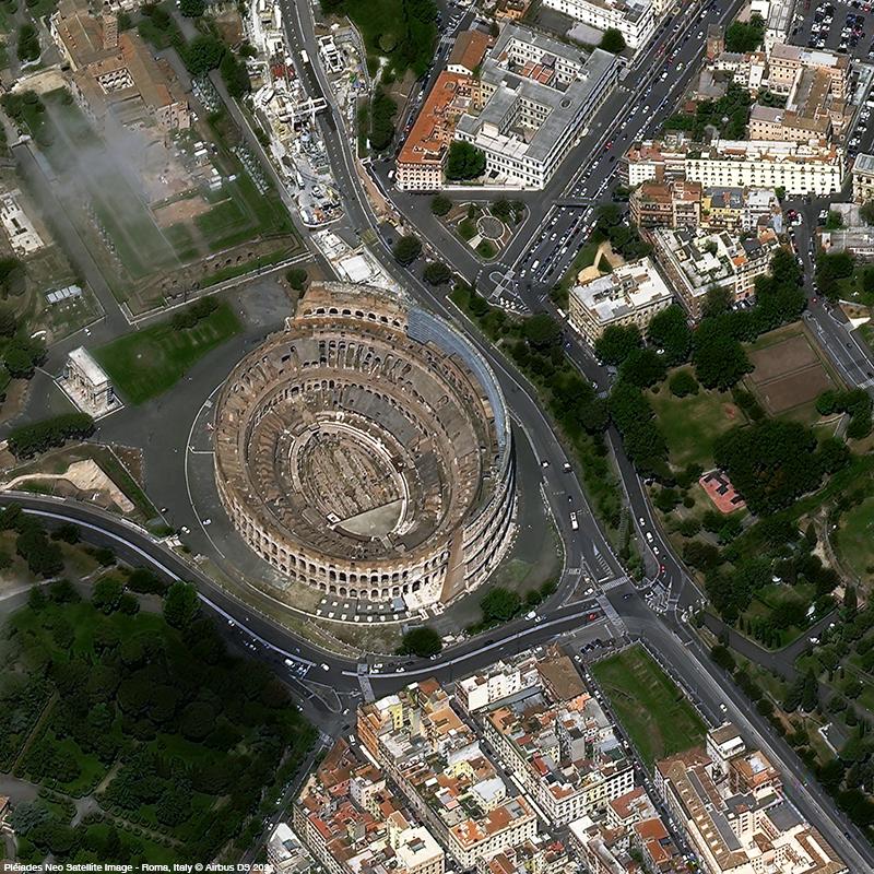 Pléiades Neo - Colosseum - Rome - Acquisition angle 41°