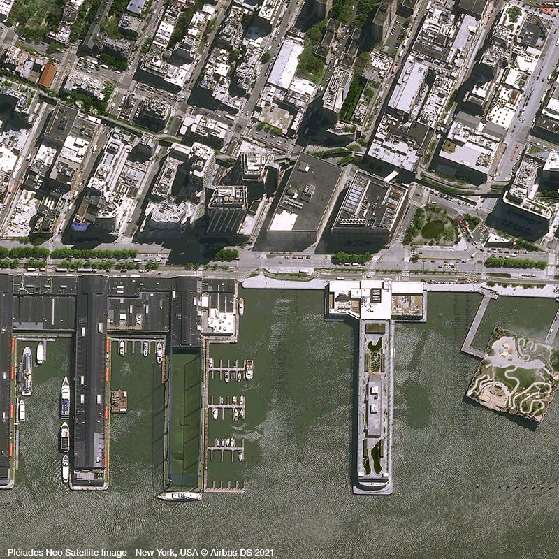 Pléiades Neo - Little Island - New York - Acquisition angle 17°
