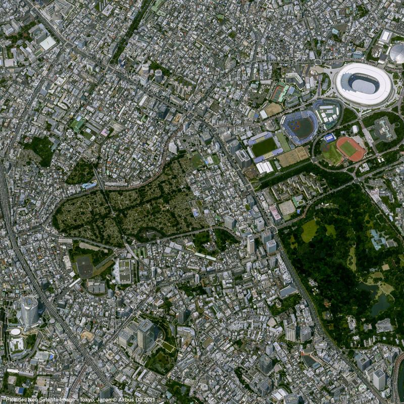 Pléiades Neo Satellite Image - Tokyo, Japan