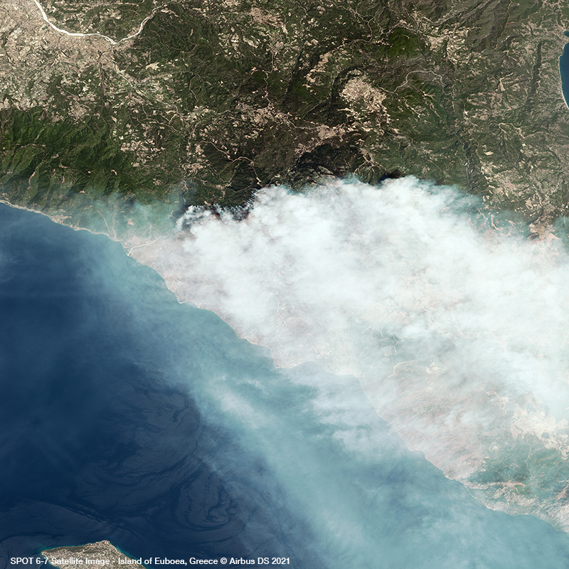 Spot 6/7 - Forest Fires on the Greek Island of Euboea