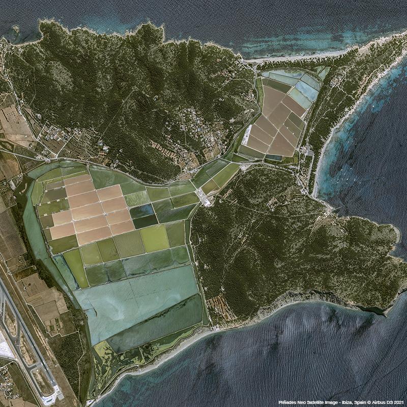 Pléiades Neo - Balearic Islands' crystal-clear waters, Ibiza