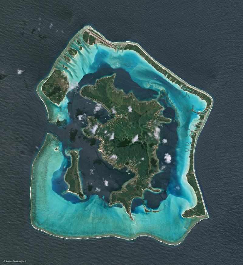 SPOT 6 Satellite Image - Bora Bora, French Polynesia