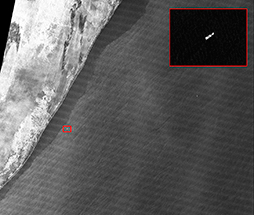 Identification of the hijacked MV Sirius Star anchored at the Somali port of Harardhere