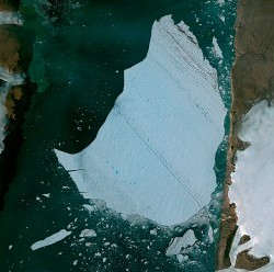 Pléiades Satellite Image - Petermann Glacier, Greenland © CNES 2012