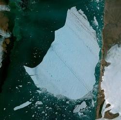 Pléiades Satellite Image - Petermann Glacier, Greenland © CNES 2012