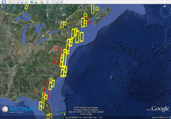 Hurricane Irene - SPOT5 and TerraSAR-X collected imagery