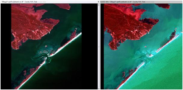Hurricane Irene - SPOT5 Satellite Images - Crystal Coast, North Carolina