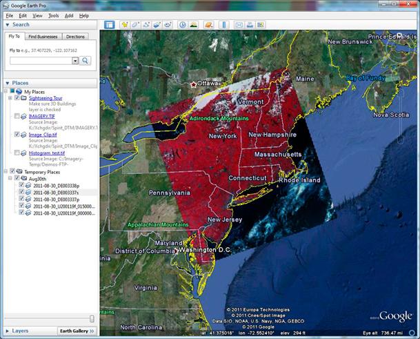 Hurricane Irene - DEIMOS-1 coverage - 30/08/2011