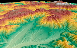 WorldDEM Digital Elevation Model of Hokkaido, Japan