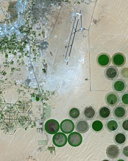 Khufra, Lybie Image satellite SPOT 5 © CNES 2002
