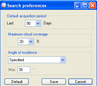 Arc Map Plugin - Search Preferences