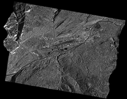 TerraASR-X Satellite Image - Orthorectified Acquisition of Sion, Switzerland with a sigma correction applied